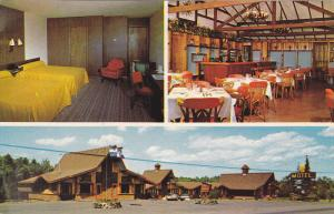 3-Views, Les Pins Motel & Gift Shop, West of Granby, Quebec, Canada, PU-1970