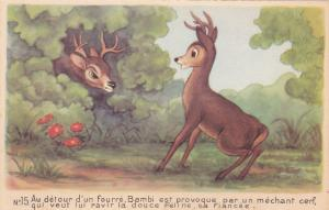 DISNEY : Bambi Confronts Ronno, 40-50's