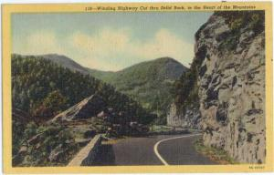 Linen of Winding Highway Cut thru Solid Rock Heart of the Mountains, TN - VA