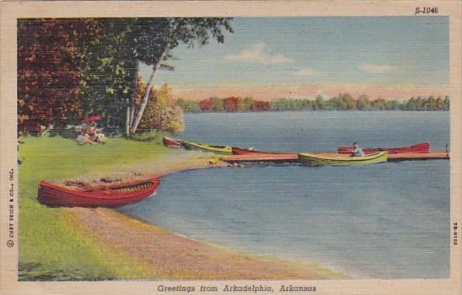 Arkansas Greetings From Arkadelphia Curteich 1949