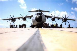Postcard RAF Airbus A400M Atlas Military Transport Aircraft in Barbados F92