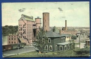 Hollingsworth & Whitney co paper mill Winslow Maine me 1912 postcard
