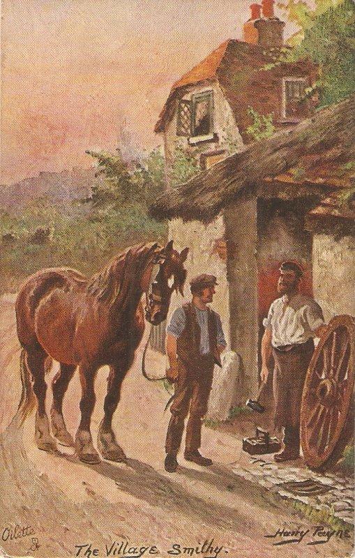 Harry Payne. The  Village Smithy Tuck Oiette Village Life Ser. PC # 9452