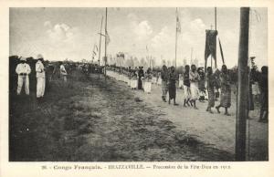 CPA Francais Congo Afrique - Brazzaville - Procession de la Féte-Diau (86668)