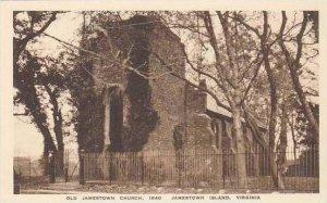 Virginia Jamestown Island Old Jamestown Church 1640 Albertype