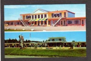 ME Ocean View & Gull Motel BELFAST MAINE PC Postcard
