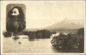 Hokkaido Japan & Aina Man Japanese Aboriginal Real Photo Postcard c1920 dcn