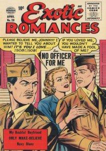 Exotic Romances 1950s Love Comic Book Military Romance Postcard