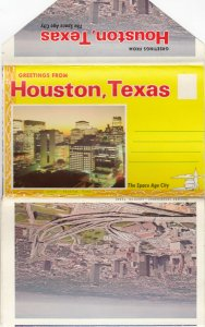 HOUSTON, Texas, 1950-60s; Folder Postcard