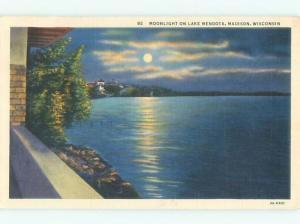 Linen WATER SCENE Madison Wisconsin WI W6303