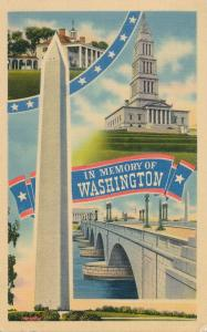 In Memory of Pres. George Washington Mt Vernon Monument Masonic Temple pm 1941