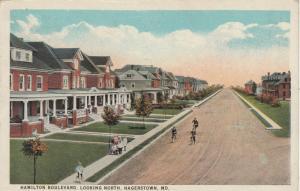 HAGERSTOWN, Maryland, PU-1924; Hamilton Boulevard, Looking North