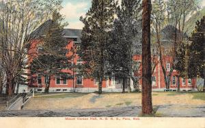 Peru Nebraska~Mount Vernon Hall @ State Normal School~1909 Postcard