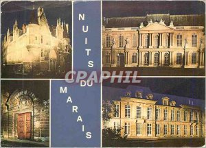 Modern Postcard Under the Sky of Paris Marais Nights (Hotel de Sens Hotel de ...