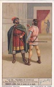 Liebig Vintage Trade Card S1337 El Cid 1936 No 1 Don Rodrigue Provoque Gormas