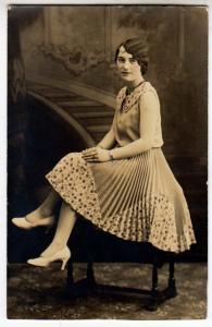 RPPC - Girl with a Fancy Dress