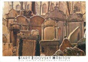 Postcard CZECH REPUBLIC Praha prague praga stary zidovsky hrbitov  stones