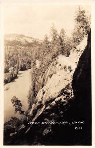 E33/ Garberville California Ca Postcard Real Photo RPPC c30s Cliff Road View