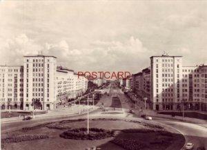 Continental-size RPPC GERMANY. BERLIN - KARL-MARX-ALLEE Foto: Hupfer