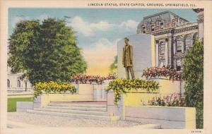 Lincoln Statue State Capitol Grounds Springfield Illinois 1938
