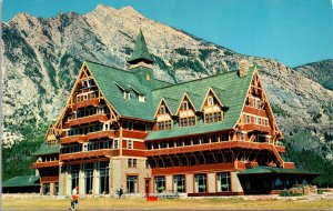 Waterton Lakes Alberta Canada Prince of Wales Hotel Postcard unused 1960s