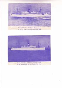 Great White Fleet Liners, Veragua, Chiriqui, Two Pictures on the Back on Ship...