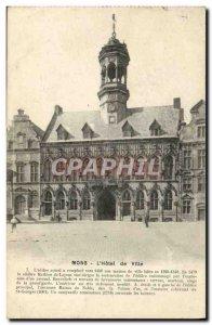 Old Postcard Mons L & # City 39hotel