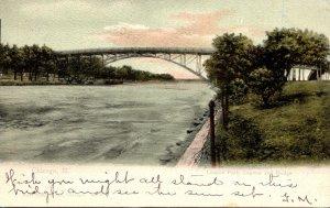 Illinois Chicago Lincoln Park Lagoon and Bridge 1905