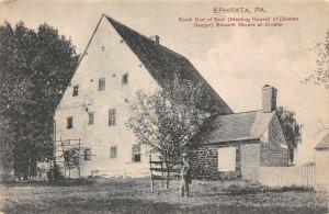 LPS12 Ephrata Pennsylvania South End of Saal Meeting House Postcard