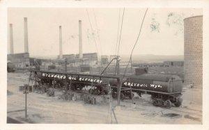 LP80    Greybull Wyoming  RPPC Postcard  Standard Oil Refinery