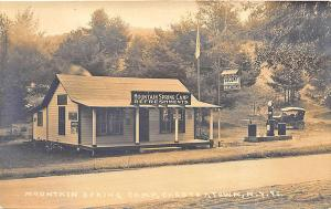 Chestertown NY Mountain Spring Camp Socony Gas Station Old Car RPPC Postcard