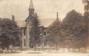 E62/ Windham Ohio RPPC Postcard 1915 Public School Leiter Image Lorain