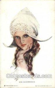 Series No. 183 Miss Knickerbocker Artist Signed Harrison Fisher 1913 light co...