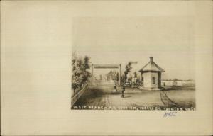 Traunton MA Weir Branch RR Train Station 1850 Drawing Real Photo Postcard