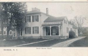 Homer, Cortland County NY, New York - David Harum House - pm 1914 - UDB