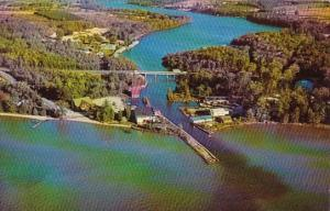 Clam River Where It Empties Into Torch Lake Michigan