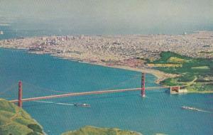 California San Francisco Aerial View With Golden Gate Bridge