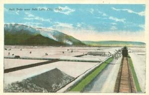 Salt Beds near Salt Lake City, Utah 1910s-1920s unused Po...