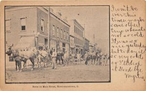 E83/ Newcomerstown Tuscarawas Ohio Postcard 1908 Main Street Workers 17