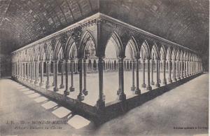 France Le Mont Saint-Michel Abbaye Galeries du Cloitre 1929