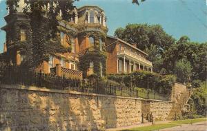 Galena Illinois~Pre Civil War Homes~Steamboat Architecture~1950s Postcard