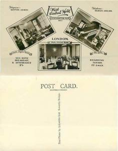 West Central Hotel, Southhampton Row, London UK, RPPC Interior Views