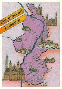 Netherlands Een groet uit Limburg Stadtplan Map, Weert Meijel Horst