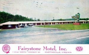 Virginia Martinsville Fairystone Motel 1957