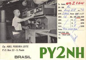 QSL card  Brasil PY2NH Abel Pereira Leite,