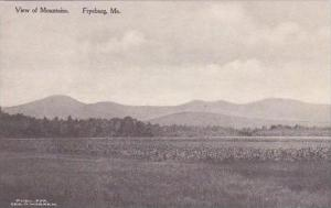 Maine Fryburg View Of Mountains Albertype