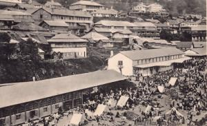 Darjeeling Calcutta Market Bazar Antique Indian Postcard