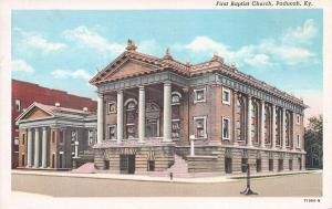 First Baptist Church, Paducah, Kentucky,  Early Postcard, Unused