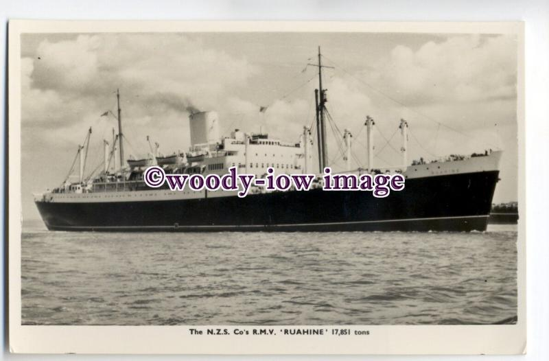 LS0180 - New Zealand Shipping Co Liner - Ruahine , built 1951 - postcard
