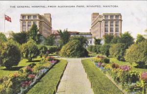 WINNIPEG, Manitoba, Canada, 1900-1910´s; The General Hospital From Alexandra...